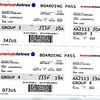 Boarding passes to Costa Rica.