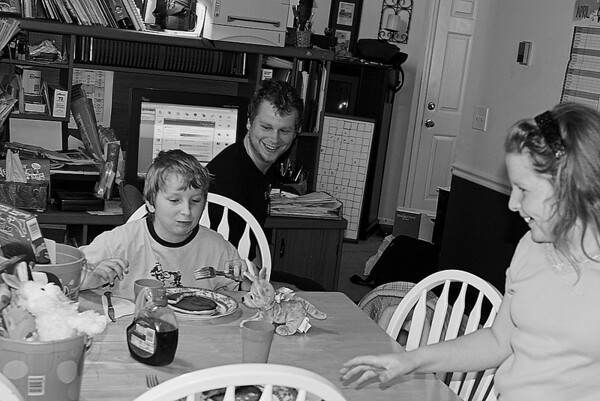 Joshua, Tim, and Abigail - Easter 2006