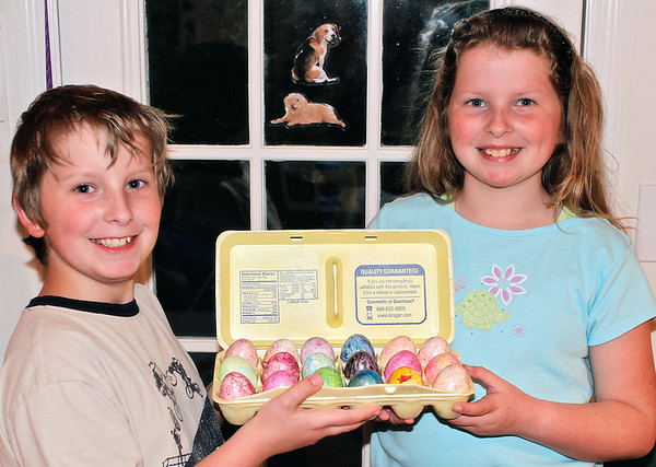 A different version of previous image.  Joshua and Abigail Howland - Easter 2006