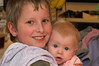 100% crop of previous photo, sans filter<br /> Joshua and Chloe, August 4th, 2006