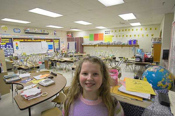 Abigail in her classroom - October 2006