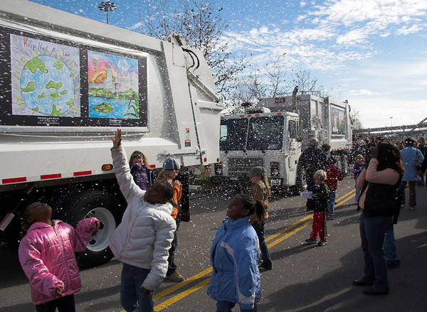 The truck with Abigail's artwork was featured in this year's Nashville Christmas Parade on December 1st.