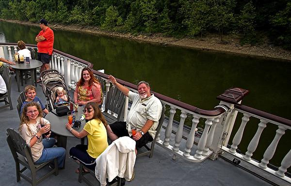 Clockwise from top: Jenn, Uncle Kevin, Aunt Joy, Abigail (10), Josh (11), Chloe (1)