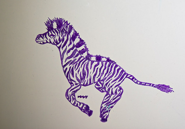Dry-erase marker drawing by Abigail, age 10 - June 2007