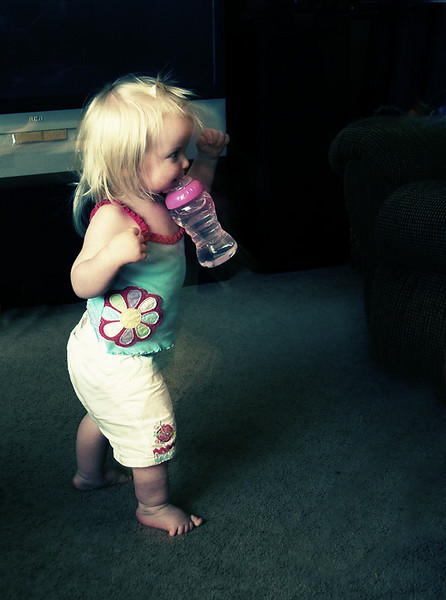 As you'll see in upcoming postings, one of Chloe's big things when she first walked was to carry stuff in her mouth.