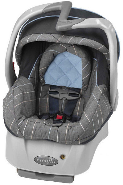 When used as an infant carrier, the handle can unexpectedly release, causing the seat to rotate forward. When this happens, an infant inside the carrier can fall to the ground and suffer serious injuries.  Evenflo has received 679 reports of the handle on the car seat/carriers unexpectedly releasing, resulting in 160 injuries to children. These reports include a skull fracture, two concussions, cuts, scrapes and bruises.  Above text from  http://safety.evenflo.com/cs/sc/cssc99_RD.phtml?rid=EFR18&src=WEB