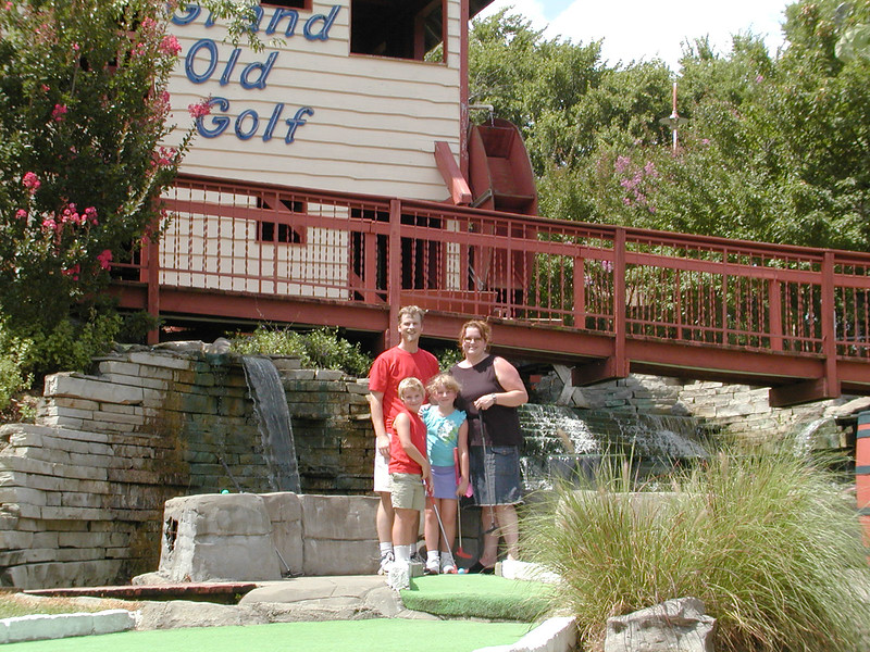 At the same miniature golf, in July of 2004, for comparison.
