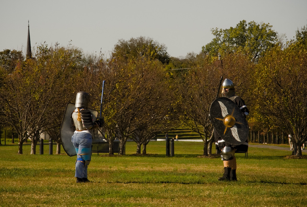 Knights in Nashville's Bicentennial Park, October 2008