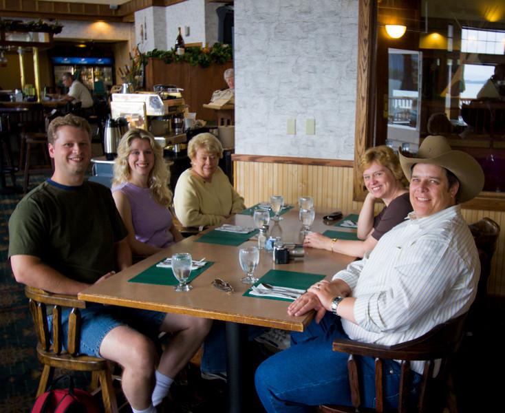 Left: Tim, Sara, Peter's Mother.  Right: Tim & Sara's Mother, Peter