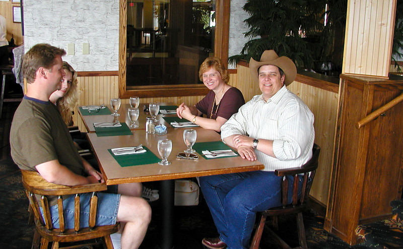 Left to right:  Tim, Sara (Howland) , Faith Howland, Peter  - 080520_0771_TakenByHornby