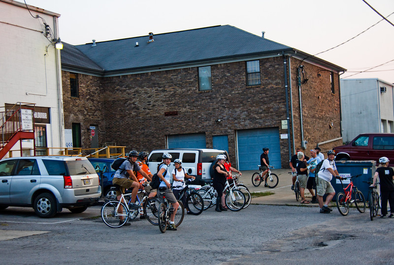 It just so happened we had parked right beside the Nashville Bicycle Lounge, a hip bike sales and repair shop, and cycling team.