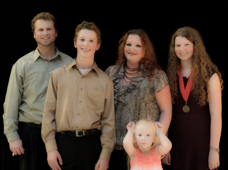 A blurry shot of our whole family - May 2011