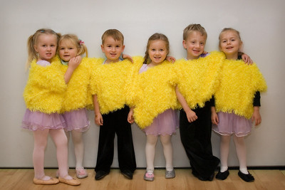 "12/21 - Lili's dance class is practicing for their Christmas performance on the 23rd. They are wearing the ""Chicken Dance"" outfit."