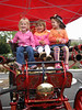 10/14 - Open day at the Poway Fire Department: Binaca, Maya, Lili.