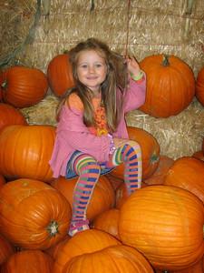10/14 - Climbing a pumpkin mountain