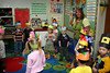11/16 - Thanksgiving celebration in the preschool. Children could decide if they wanted to wear an indian headband or a pilgrim hat. Almost all went with the indian headband.