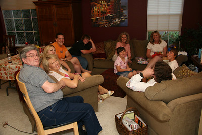 (clockwise) My dad Dave, Kathy, Deanna, Tara, David, Breanna, mom Colleen, Sara, Joey, and the back of Steve's head.