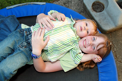 Emilie and Carter, cuddly cousins.