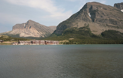 Glacier National Park - View of Many Glacier Lodge from the far side of the lake