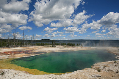 We took a day to visit Yellowstone National Park.  For most of the day, the weather was wonderful, though perhaps a bit overly bright for optimal photography.