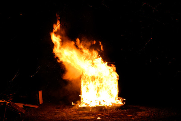 Krell Family Thanksgiving Bonfire 2006