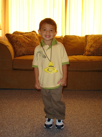 2006-09-06 AJ's first day of Pre School