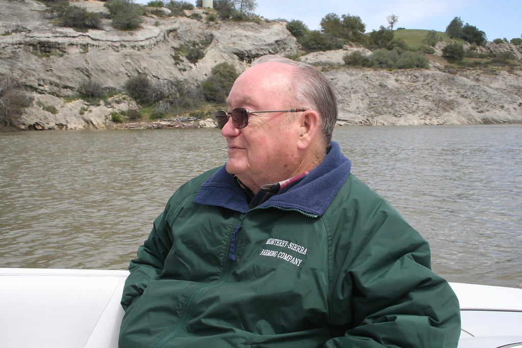 Grady Kane enjoying our boat on Lake Nacimiento in April 2006