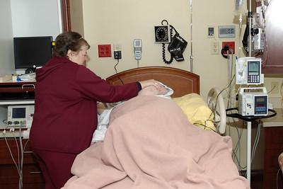 Leann's Mom taking care of Leann