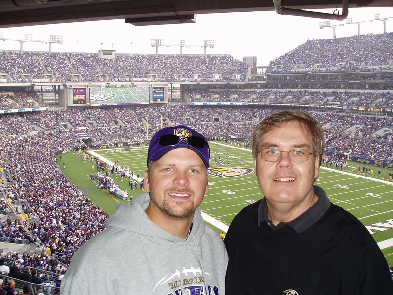 Kirk and Ross at the Ravens Game