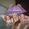 Tori and Kenz in the the hot tub with Aunt J.J.-Todd's aunt.