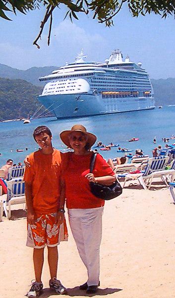 mom and anthony cruise 2006