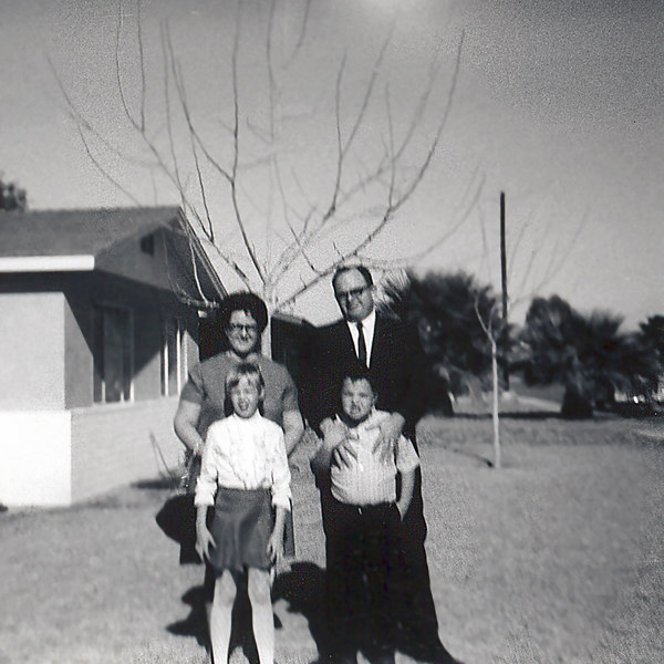 family at house in Yuma