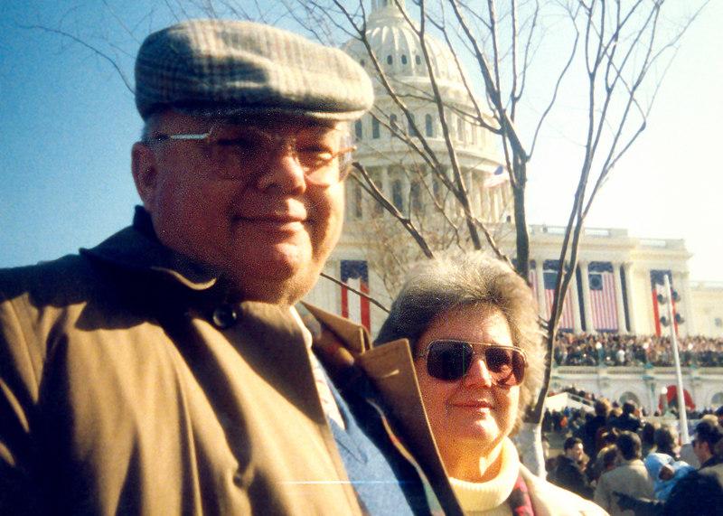 Mom and Dad at 1992 inaguaration