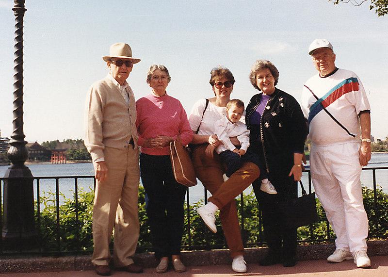 dad mom eileen grandma gramps and michael