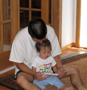 sep 17, 06 reading with daddy