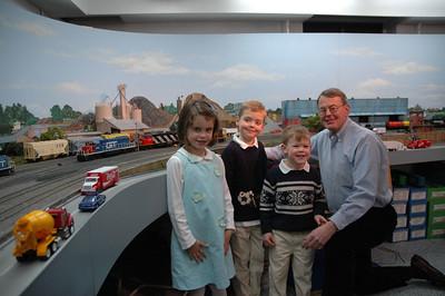 Train Layout - Jack, Will, Hadley & Bapa