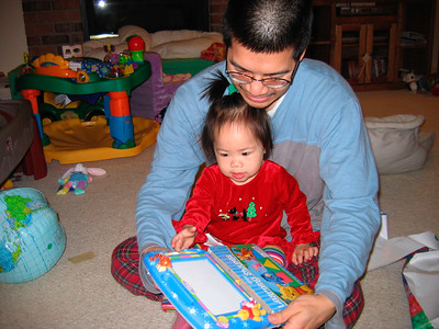 dec 25, 06 unwrapping my presents