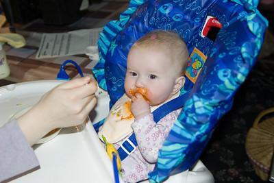Beverly enjoying carrots