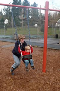 Gavin at playground