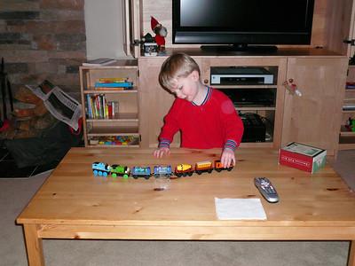 Gavin opening presents Chriatmas '07