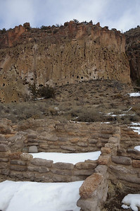 Bandelier National Monument Ruins & Cliff
