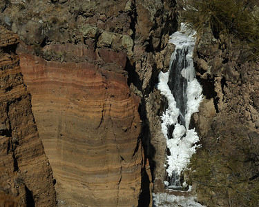 Upper falls at Bandelier NM