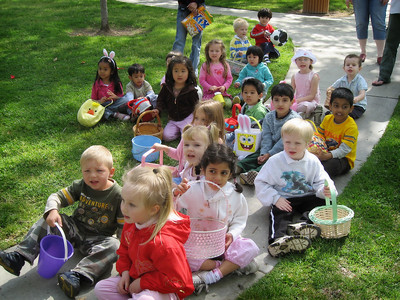 4/5 - Easter egg hunt at Lili's preschool