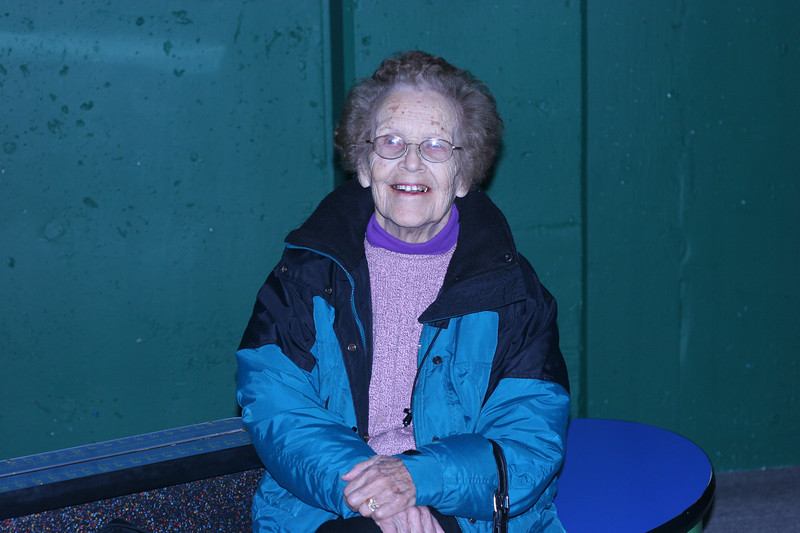 Grandma, at the Cranbrook Science Museum