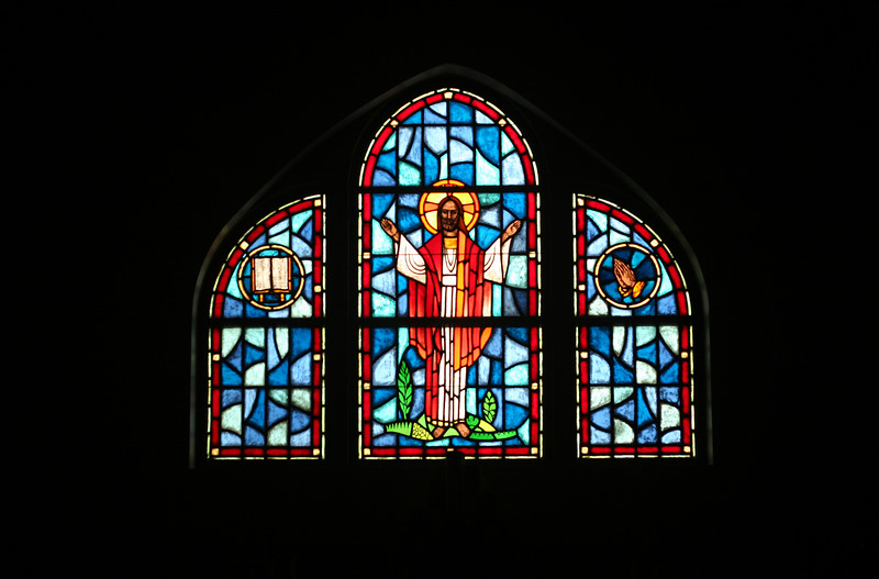 The main window at the Lutheran church, donated in memory of Grandpa Cobb.