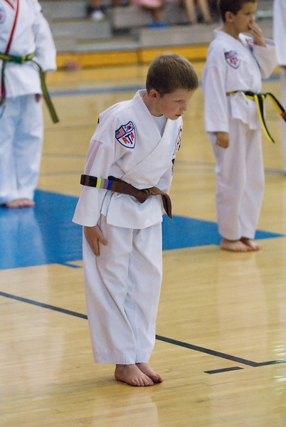 8.18.2007 -- Connor's Taekwondo belt graduation ceremony.