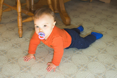 K.C. is a patient subject as Dad experiments with bounce flash off the floor.