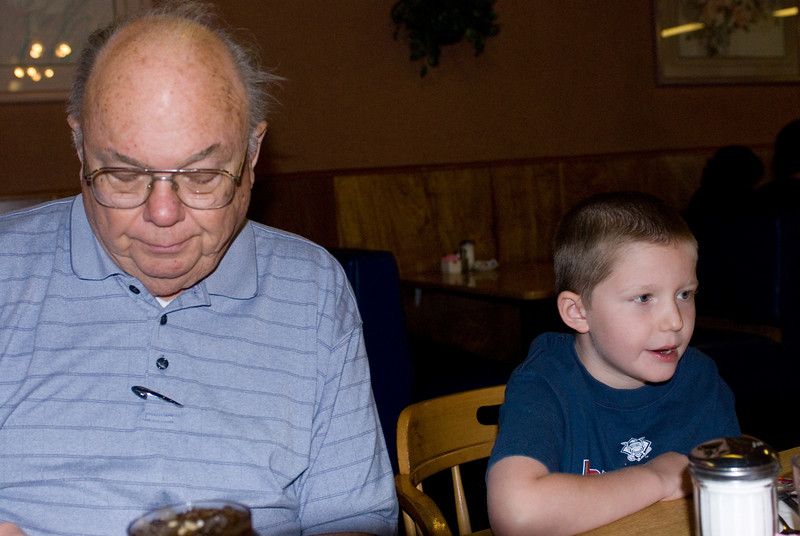 7.5.2007 -- Eating at the Chicken Pot Pie shop with Grandpa.