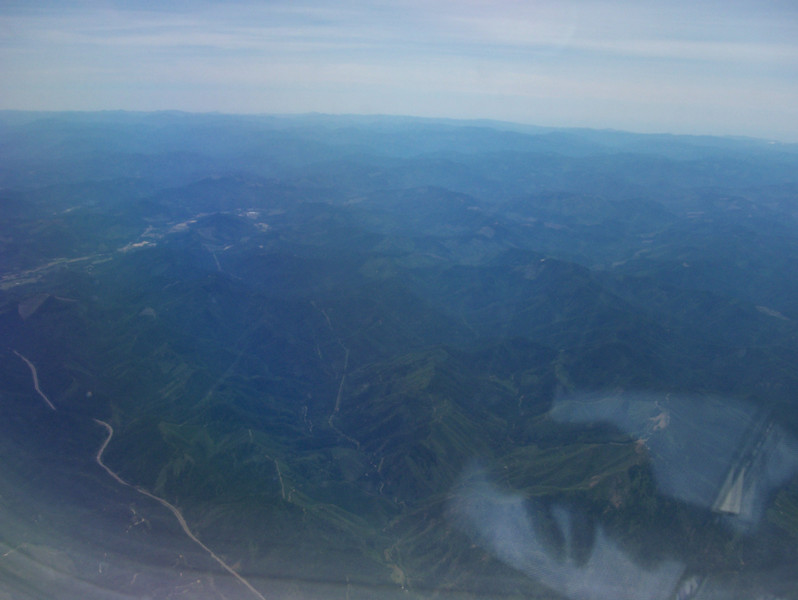 my first view of Oregon from the plane and I am already amazed at the landscape