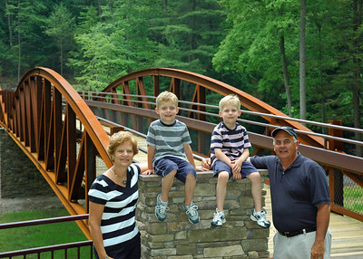 Nan, Pap & Boys at the Ned Smith Bridge